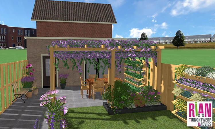 Leuke tuin in Tricht